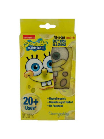 SpongeBob Squarepants Body Wash Infused Sponge (Available in a pack of 24)