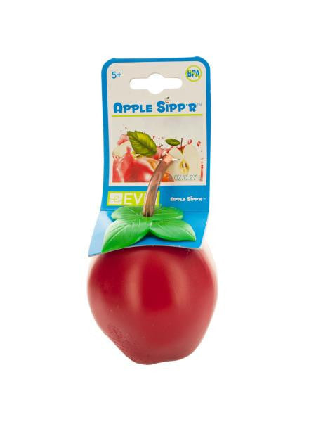 Apple Sipper Drink Bottle with Straw (Available in a pack of 24)