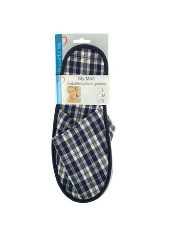 Men's Plaid Slippers (Available in a pack of 12)