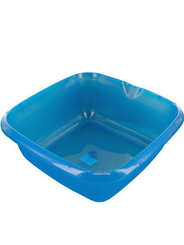 Square Plastic Basin with Pour Spout (Available in a pack of 12)