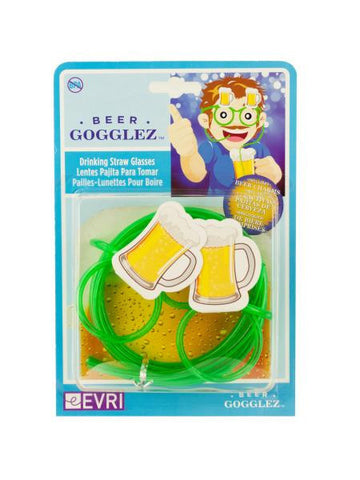 Beer Gogglez Drinking Straw Glasses (Available in a pack of 24)