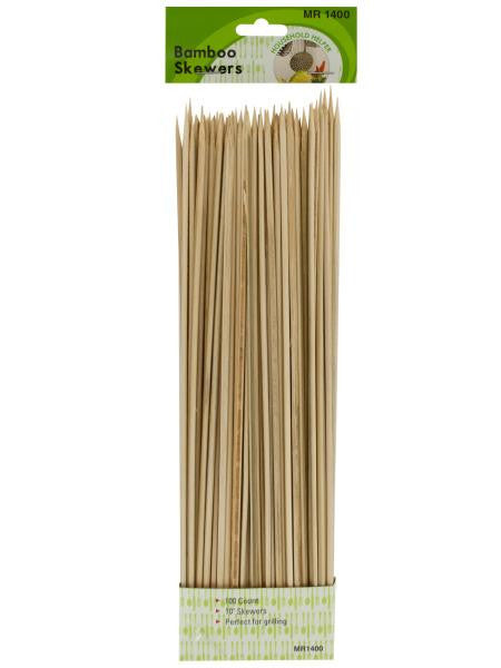 "100pk 10"" bamboo skewers (Available in a pack of 20)"