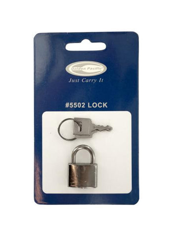 Silver Luggage Lock with Keys (Available in a pack of 16)