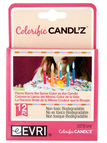 Colorific candles (Available in a pack of 24)