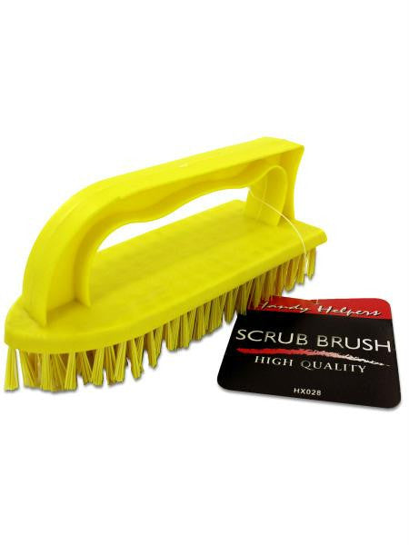Iron-Shaped Scrub Brush with Handle (Available in a pack of 24)