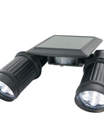 Motion Sensor Solar Twin Spot PIR Security Light (Available in a pack of 1)