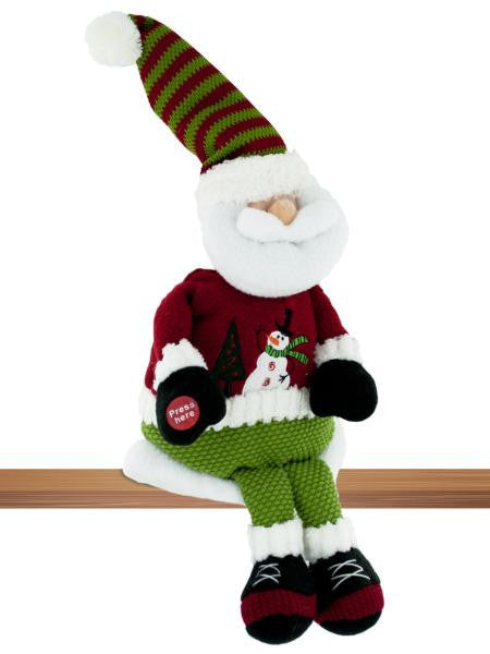 Singing & Rocking Plush Shelf Sitter Santa (Available in a pack of 4)
