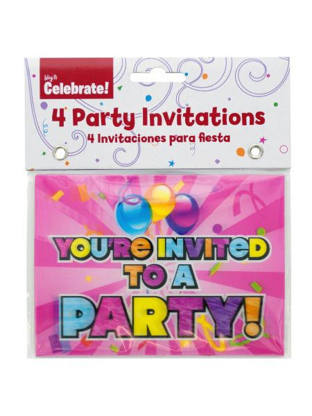 Holographic Girl Party Invitations (Available in a pack of 24)