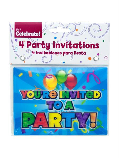 Holographic Party Invitations (Available in a pack of 24)