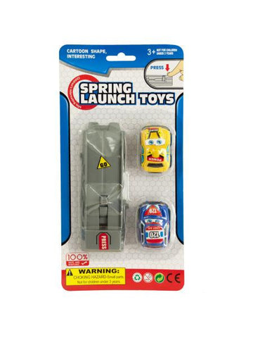 Press & Go Spring Launch Toy Cars Set (Available in a pack of 24)