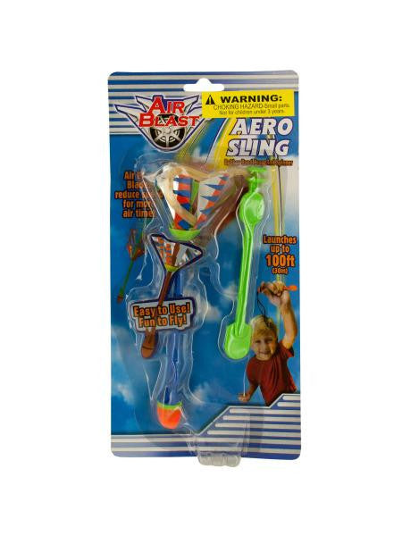Aero Sling Rubber Band Spinner Toy (Available in a pack of 24)