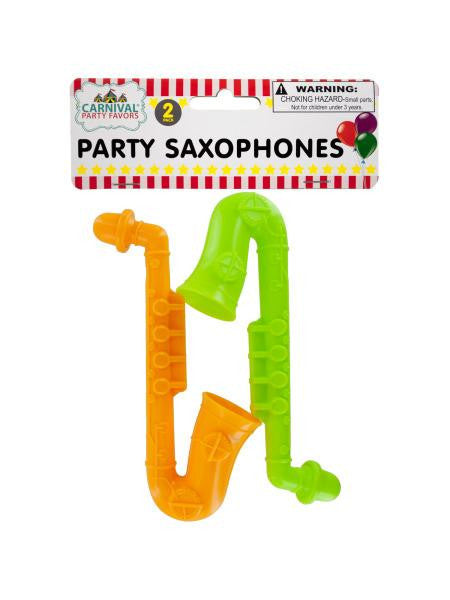 Party Saxophones (Available in a pack of 24)