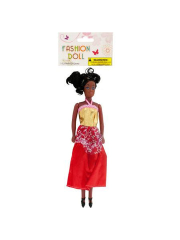 Black Fashion Doll (Available in a pack of 12)