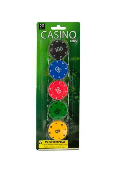 Casino Poker Chips Set (Available in a pack of 12)