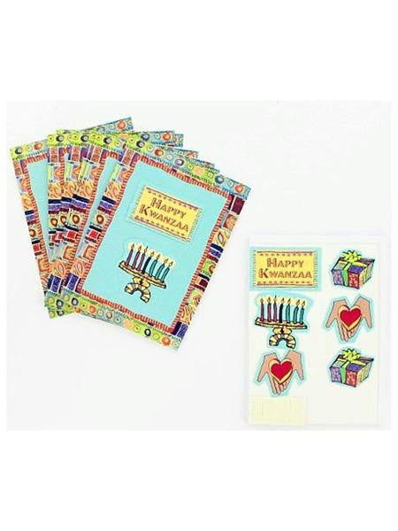 Kwanzaa note cards with envelopes, pack of 8 (Available in a pack of 25)