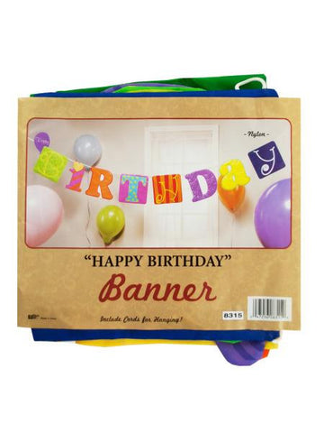 Fabric Happy Birthday Banner (Available in a pack of 36)