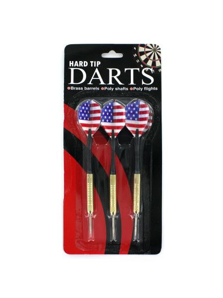 Hard Tip Darts with American Flag Design (Available in a pack of 24)