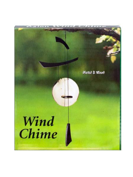 Asian Metal & Wood Wind Chime (Available in a pack of 18)