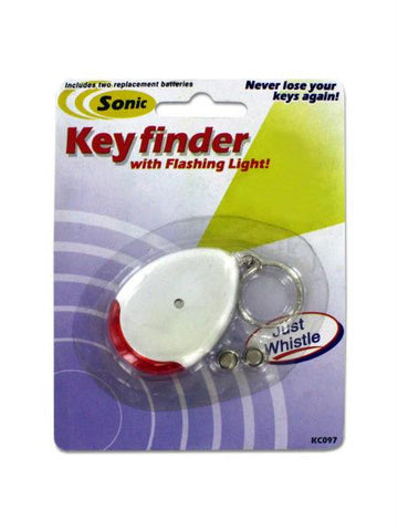 Sonic Key Finder Key Chain with Flashing Light (Available in a pack of 24)