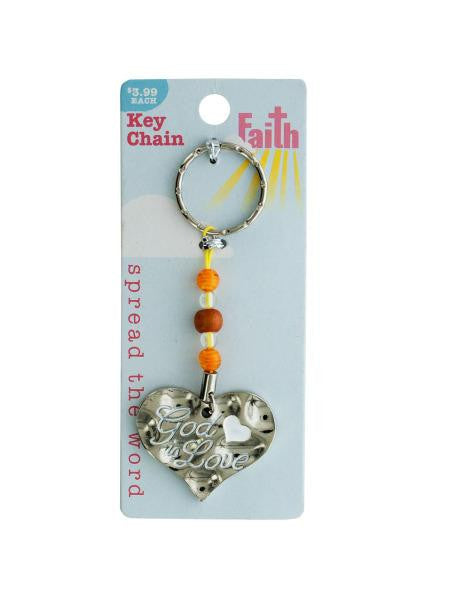 Religious Keychain with Beads (Available in a pack of 18)