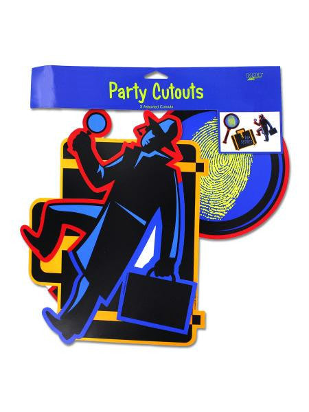 Secret Agent Party Cut Outs (Available in a pack of 24)