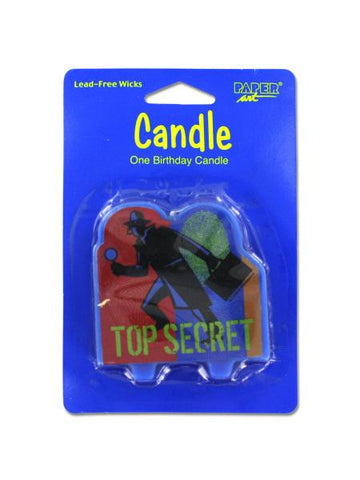 Top secret birthday candle (Available in a pack of 24)