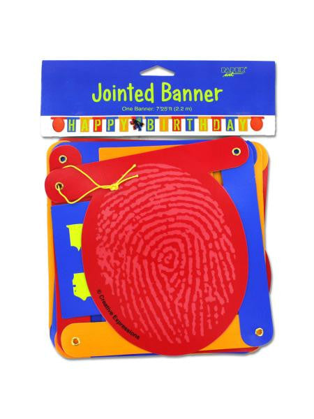 Jointed Happy Birthday Banner (Available in a pack of 24)