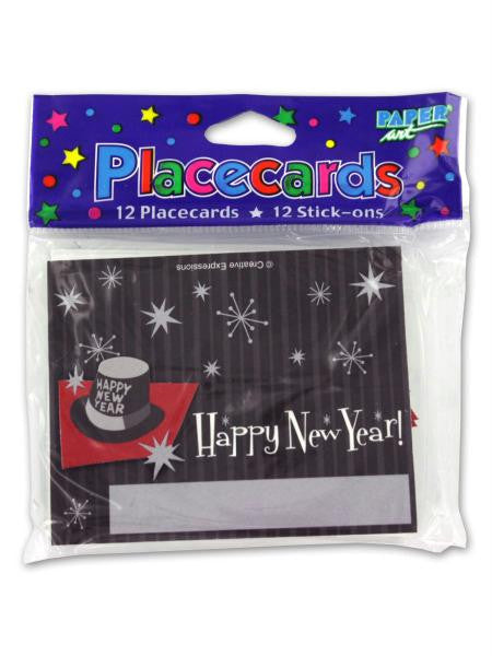 New Year's placecards, pack of 12 (Available in a pack of 36)