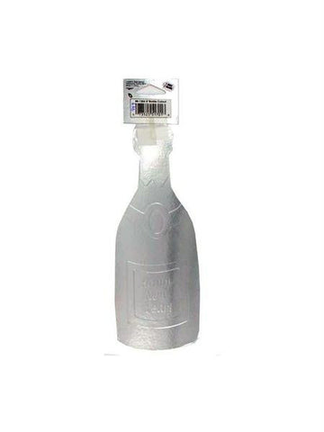 Cutout 12 in champagne bottle silver (Available in a pack of 24)