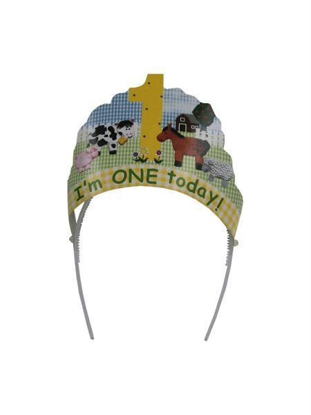 """I'm One Today"" head wear (Available in a pack of 24)"
