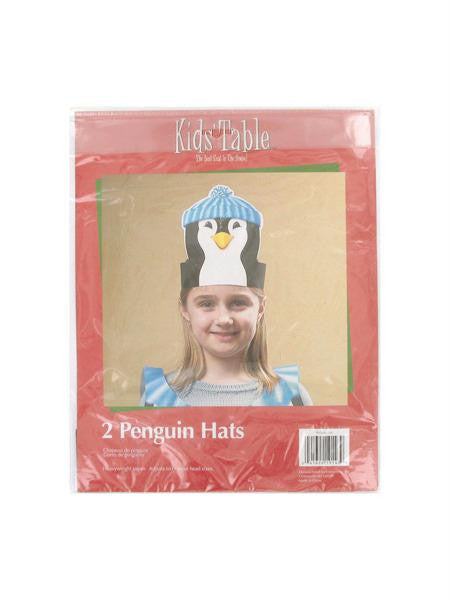 Holiday Fun penguin hats, pack of 2 (Available in a pack of 24)