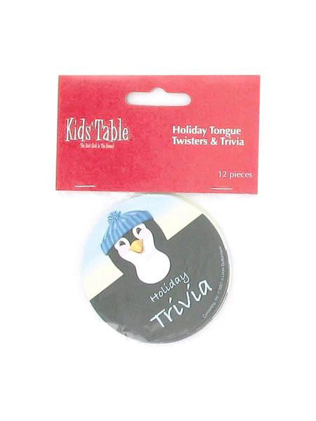 Holiday Fun penguin tongue twisters and trivia, pack of 12 (Available in a pack of 24)