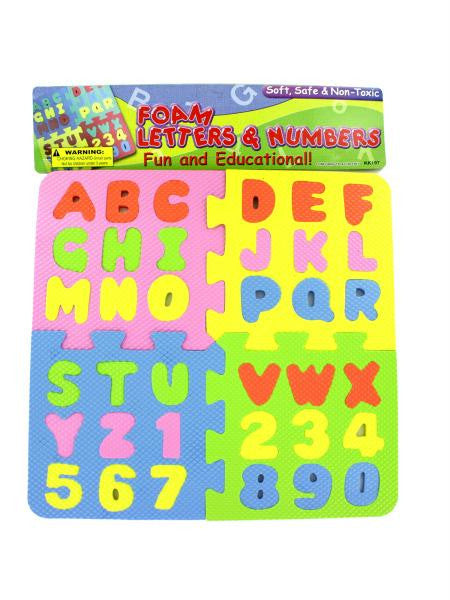 Foam Letter & Number Puzzle (Available in a pack of 12)