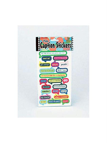 Assorted Photo Caption Stickers (Available in a pack of 24)