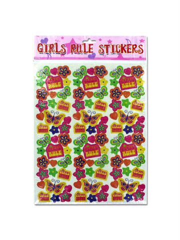 """Girls Rule"" Stickers (Available in a pack of 12) - Blobimports.com"