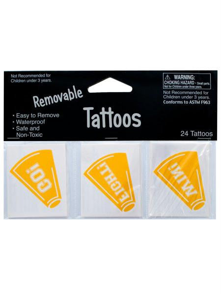 Removable Yellow Cheer Tattoos (Available in a pack of 24)