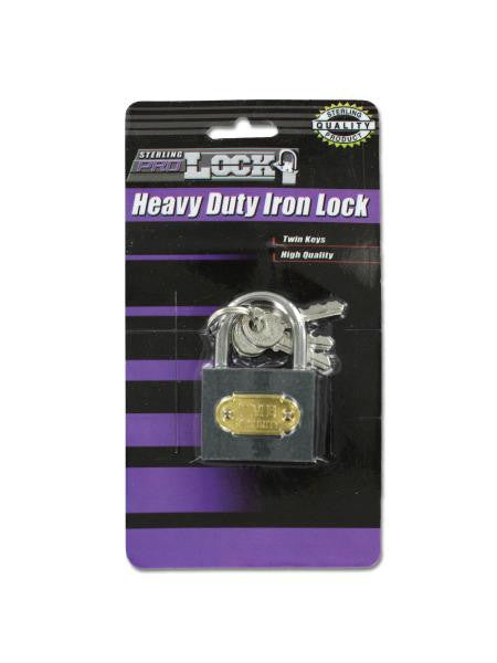 Heavy Duty Iron Lock with Keys (Available in a pack of 24)