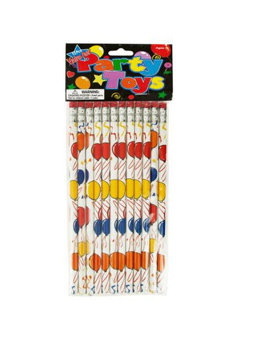 Balloons Party Favor Pencils (Available in a pack of 24)