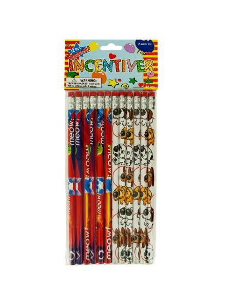 Cats & Dogs Party Favor Pencils (Available in a pack of 24)
