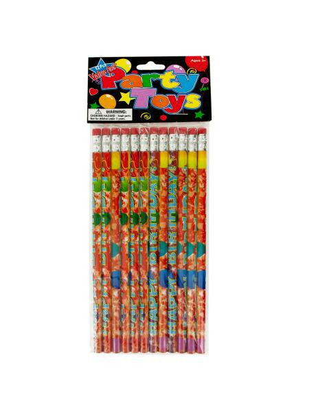 Happy Birthday Party Favor Pencils (Available in a pack of 24)