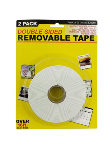 Double Sided Removable Tape (Available in a pack of 4)