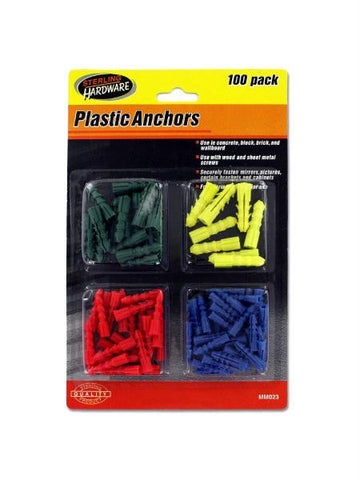 Plastic Anchors Set (Available in a pack of 12)