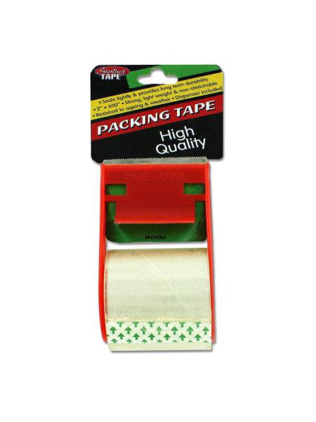 Packing Tape with Dispenser (Available in a pack of 24)