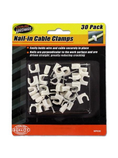 Nail-in Cable Clamps (Available in a pack of 24)