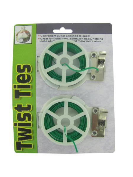 Twist Tie Spools with Cutter (Available in a pack of 24)