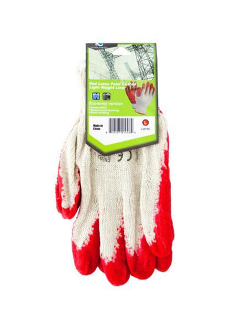 Large Red Latex Palm Coated Lightweight Liner Gloves (Available in a pack of 24)