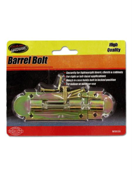 Barrel Bolt with Screws (Available in a pack of 24)