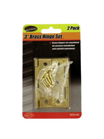 Brass Hinge Set with Screws (Available in a pack of 24)