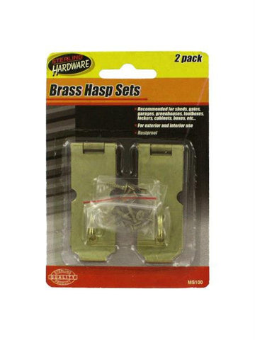Brass Hasp Set (Available in a pack of 24)