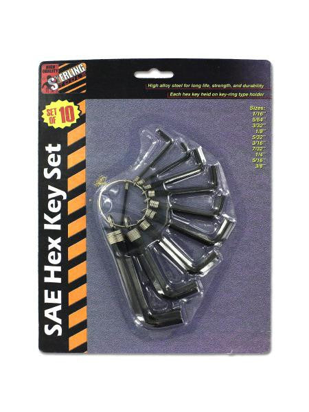 SAE Hex Key Set (Available in a pack of 24)